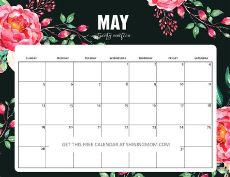 Blank Calendar July 2019 To June 2020