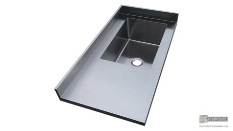 Stainless Steel Sink Countertop Integrated - stainless steel 4 finish counter top with integrated sink