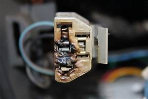 Melted Ac  Heater Blower Switch Connector