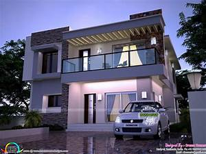 Modern home in 2200 sq-ft - Kerala home design and floor plans