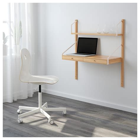 desk attached to wall ikea bjursta wall mounted drop leaf table ikea within amusing