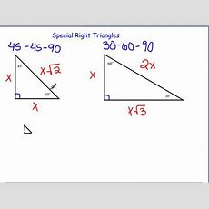 101 Using Special Right Triangles To Find Trig Values On Vimeo