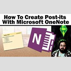 How To Create Sticky (postit) Notes With Onenote 2013 Youtube