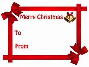Christmas Gift Tag no background