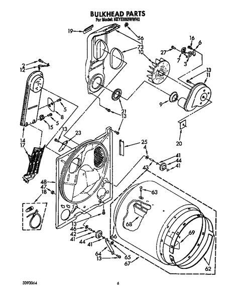 Kitchenaid Parts Dryer by Diagram Parts List For Model Keye660wwh0 Kitchenaid