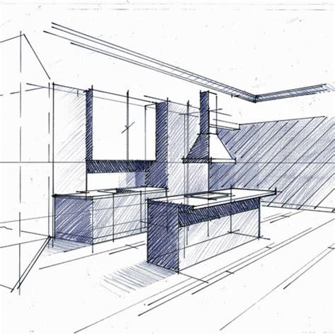 croquis cuisine comment lire un plan d 39 architecte cuisine minimaliste croquis et philippe