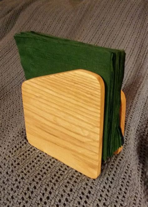 wooden napkin holder wood napkin holder small wooden