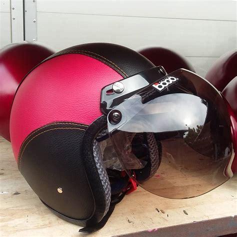 helm vespa helm bogo pink hitam helmets helm helmet