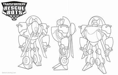 Coloring Rescue Bots Pages Transformers Side Printable