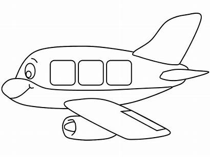 Preschool Airplane Coloring Pages Transportation Worksheets Crafts