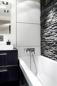 best faience salle de bain blanche ideas design trends With carrelage noir et blanc salle de bain