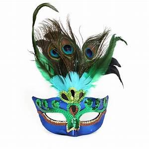 Popular Peacock Feather Masquerade Masks-Buy Cheap Peacock ...