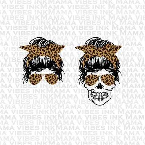 Find & download free graphic resources for messy bun. Mom and Mom Skull svg Messy bun skull svg Momster life SVG ...
