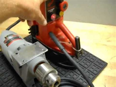 testing  milwaukee   magnetic base drill press youtube