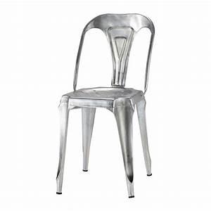 Chaise En Acier : chaise indus en acier galvanis multipl 39 s maisons du monde ~ Teatrodelosmanantiales.com Idées de Décoration