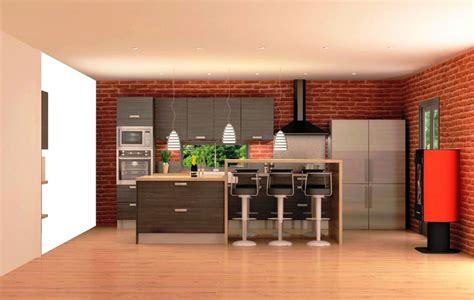 comptoir ilot cuisine cuisine équipée bois foncé avec comptoir style quot cuisine