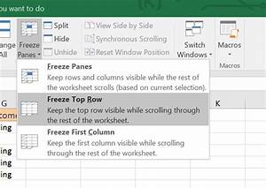how do you freeze a row in excel excel tutorial: how to