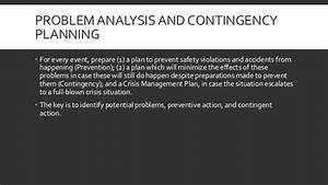 EINTROEVM - Contingency planning