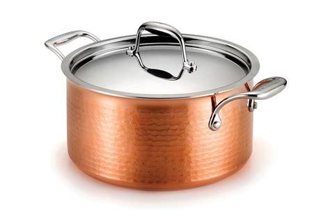 lagostina martellata tri ply hammered copper dutch oven  quart cutlery