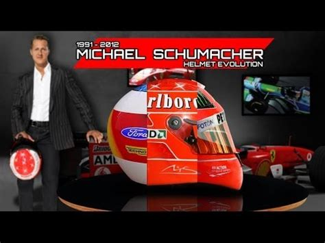 michael schumacher helmet evolution     youtube