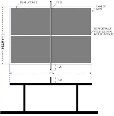 dimension table de tennis de table comprendre le tennis de table en milieu scolaire quelles tables