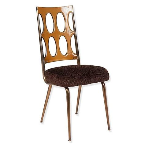 space age dining chairs lucite and brown faux fur