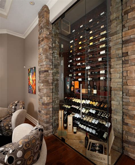 built ins studys transitional wine cellar orlando