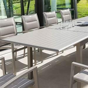 Table De Jardin Extensible Aluminium : table de jardin extensible aluminium azua max 240 cm taupe table de jardin eminza ~ Melissatoandfro.com Idées de Décoration