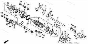 Honda Atv 2002 Oem Parts Diagram For Gearshift Drum