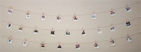 how to hang polaroid lights diy polaroid wall with string lights simple stylings