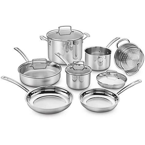 cuisinart chefs classic pro  piece cookware set