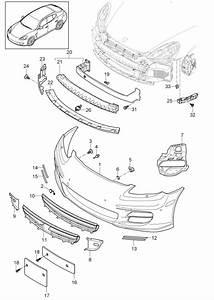 Porsche 970 Panamera Front Bumper Tow Eye Cap 97050570300g2l