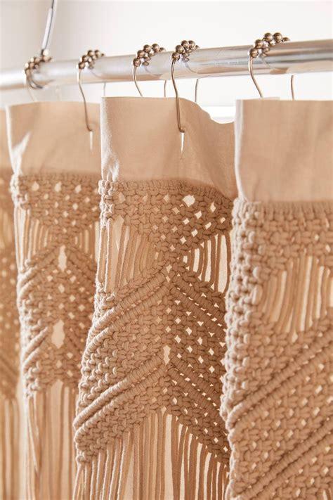 macrame shower curtain urban outfitters curtains boho
