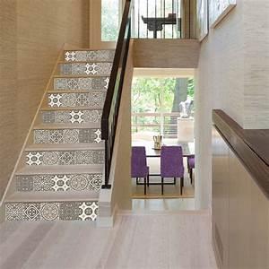 Carreaux De Ciment Autocollant : stickers autocollants carreaux de ciment gris pour ~ Premium-room.com Idées de Décoration