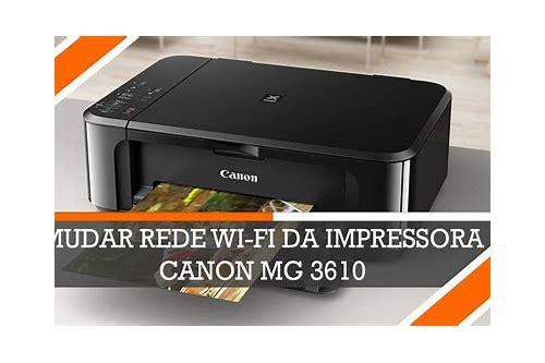 baixar gratuito de impressora canon mg3610