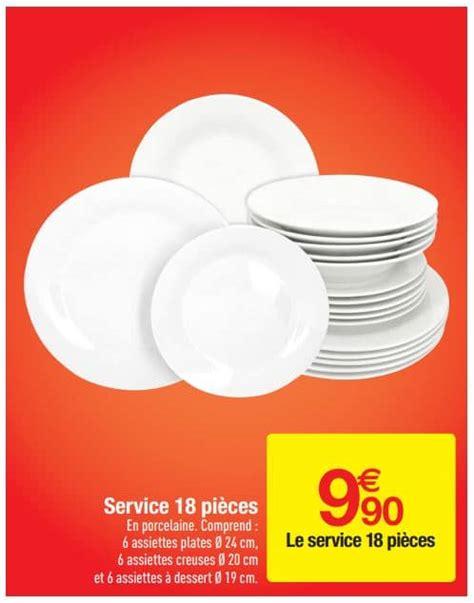 carrefour service vaisselle porcelaine 18 pi 232 ces 224 9 90