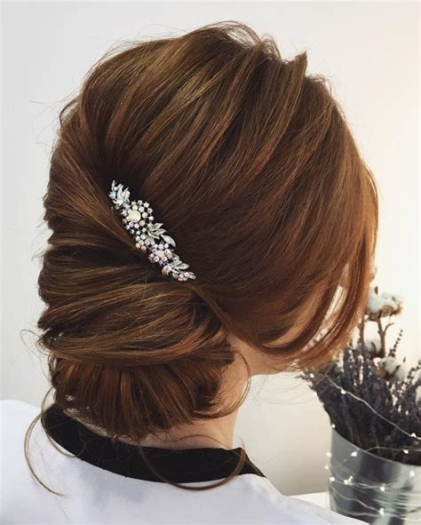 Hairstyles Bun Updos by This Low Bun Twist Updo Hairstyle For Any Wedding