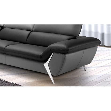 canape de luxe en cuir grand canapé d 39 angle méridienne 6 places cuir haut de gamme