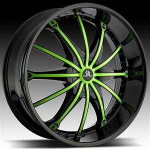 green car rims