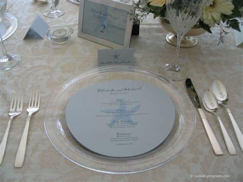 reception stationery  menus circle menu circular
