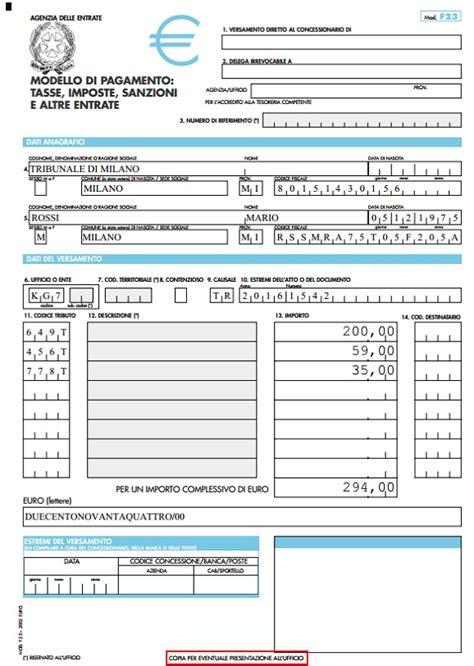 ufficio ipoteche f23 costo codici tributo trascrizioni iscrizioni