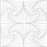 Optical Illusion Coloring Illusions Pages Op Printable Tunnel Drawing Patterns Step Geometric Mosaic Colouring Eye Drawings Sheets Zentangle Test Stencils sketch template