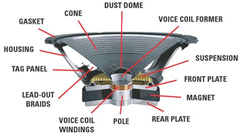 Speaker Part Diagram by Speaker Components Electrical Engineer
