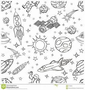 Outer Space Doodles, Symbols And Design Elements Stock ...