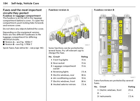 opel combo fuse box layout wiring diagram