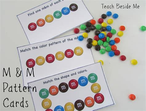 m amp m math pattern cards teach beside me 902 | Printable M M pattern cards 1024x781