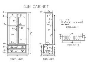 plans gun cabinet pdf woodworking