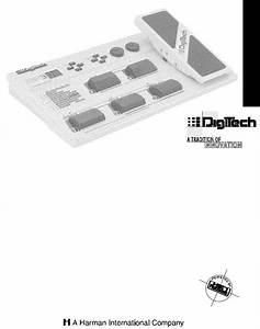 Digitech Rp3 User Manual