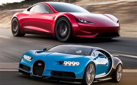 The chiron is produced by bugatti and is the fastest, most powerful, and most exclusive production super sports car in the brand's history. Tesla Roadster: Ας το συγκρίνουμε με τη Bugatti Chiron - Η τεχνολογία του αύριο συναντάει τον ...