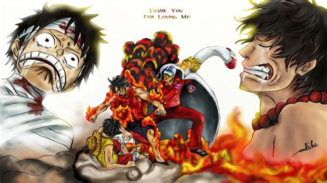 Luffy, Ace, & Akainu (one Piece)